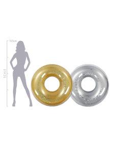 Good Vibes Metallic Glitter Swim Ring Inflatable Pool Toy
