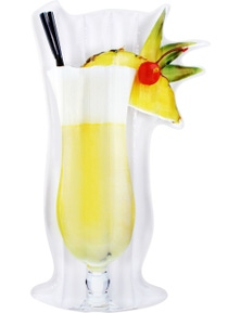 Giant Pina Colada Cocktail