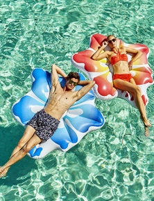 Good Vibes Hibiscus Air Lounge Inflatable Pool Toy