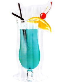 Giant Blue Lagoon Cocktail