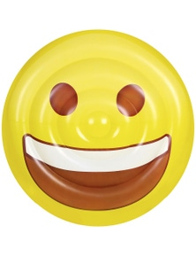 Good Vibes Emoji Air Lounge Happy Face Inflatable Float