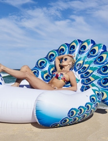 Good Vibes Giant Peacock Inflatable Pool Toy
