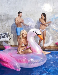 Good Vibes Float Like A Feather Swan Inflatable Pool Toy
