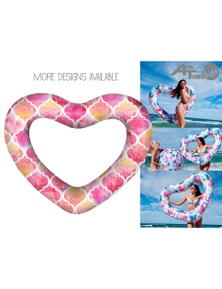 Good Vibes Giant Heart Swimring