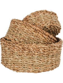 Seagrass Round Basket (Set Of 3)