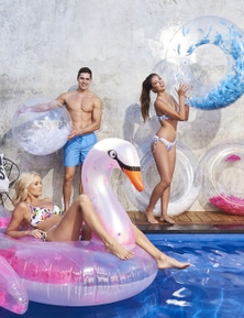 Good Vibes 116cm Light As A Feather Swim Ring Inflatable Pool Toy