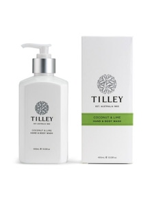 Tilley Classic White - Body Wash 400ml - Lime & Coconut