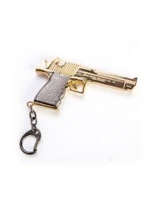 Metal Gun Keychain