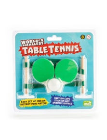 World's Smallest Table Tennis Set