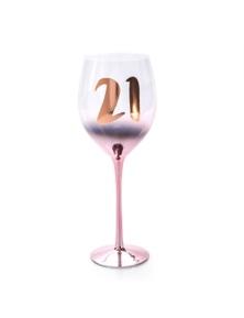 Birthday Blush Wine Glass - 21st