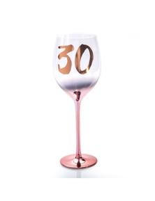 Birthday Blush Wine Glass - 30th