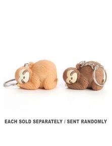 Sloth Lounge Poo Poo Keychain