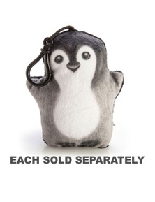 Penguin Plush Keychain with Sound