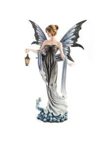 Large Light-Up Star Fairy with Lantern Figurine