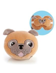 Smoosho's Pals Travel Mask & Pillow - Pug