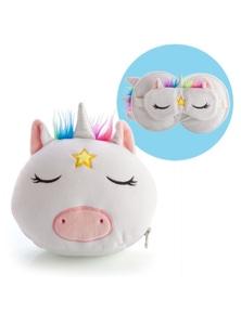 Smoosho's Pals Travel Mask & Pillow - Unicorn