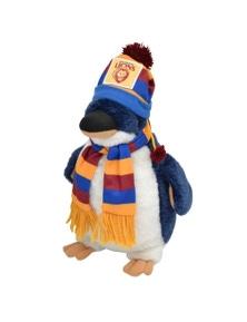 Afl Penguin Brisbane Orig (D) Kids 25Cm Soft Penguin Toy 3Y+