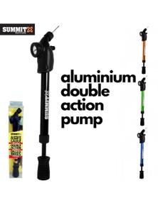 Aluminium Hand Pressure Air Pump & Gauge for Bikes Sports Balls Soccer Football