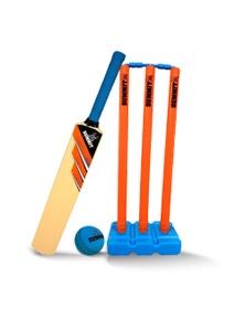 Summit Kid Plastic Cricket Set w/3 Stumps/Base/Bat/BallSenior