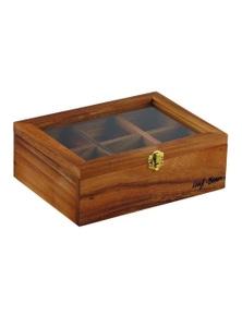 D&W Acacia Wood Tea Box