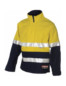 HUSKI 3M Current Fully Waterproof Anti Static Cotton Hi Vis Work Jacket 918176