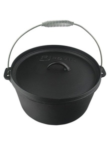 TechBrands 8 Quart 7.6L Camp Cast Iron Dutch Oven (320x150mm)