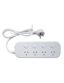 TechBrands 4 Way Powerboard w/ 4 Switches and Surge Overload Protection
