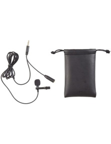 TechBrands High Quality Stereo Mic Tie Clasp with Headphone Socket