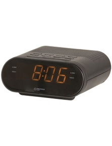 Digitech Compact Portable 240V LED Alarm Clock with AM/FM Radio