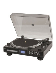 TechBrands Turntable Record Player w/ CD Deck Player & USB/SD Playback