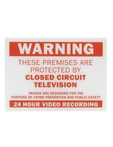 TechBrands Red CCTV Warning Sign (210x297x1.5)
