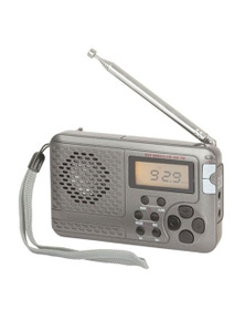 TechBrands Multiband FM/MW/SW Pocket Alarm Radio