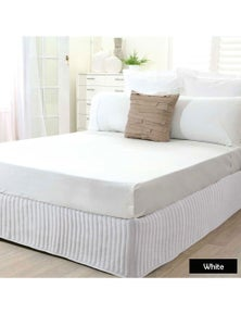 Benson Microfibre Quilted Valance Bed Skirt