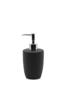 Salt&Pepper Suds Emboss Soap Dispenser Black