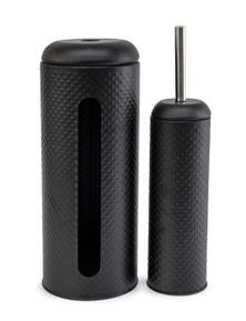 Salt&Pepper Suds Spot Toilet Brush & Roll Holder Black