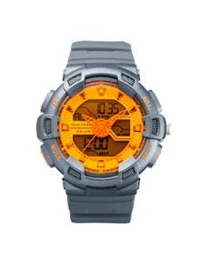 Maxum Spectre Orange Grey Analog-Digital Watch