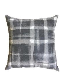 Brushed Check Charcoal Cushion