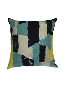 Bergen Blue-Citrus Cushion