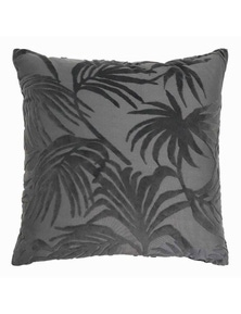 Palm Jacquard Charcoal Cushion
