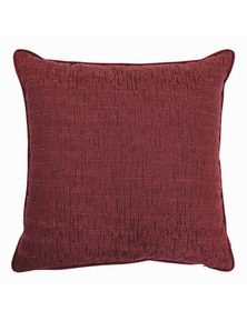 Wembley Wine Melange Velvet Cushion