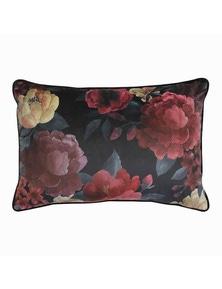 Eclipse Floral Wine Velvet Lumbar Breakfast Cushion