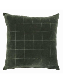 Selby Green Velvet Cushion