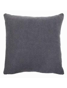 Parker Dark Grey Knitted Cushion