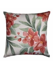 Orchid Rust-Leaf Cushion