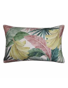Costa Rica Pink-Green Lumbar Breakfast Cushion