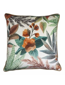 Succulent Velvet Orange-Green Cushion