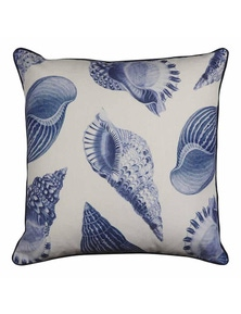 Atlantic White-Indigo Cushion