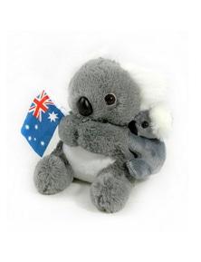 Jumbuck 21cm Koala Plush - Baby & Flag