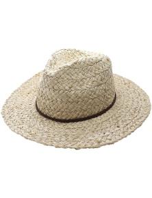 Black Ice Mens Justin Raffia Hat - Natural
