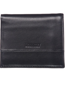 Morrissey Black Italian Leather Tri-Fold Mens Wallet